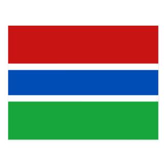 Cartão da bandeira de Gambia