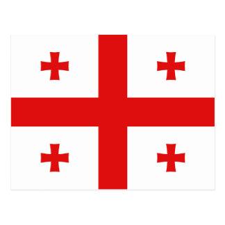 Cartão da bandeira de Geórgia