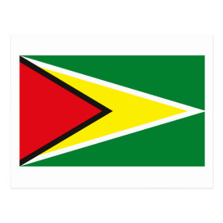 Cartão da bandeira de Guyana