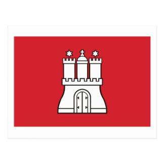 Cartão da bandeira de Hamburgo