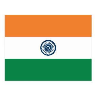 Cartão da bandeira de India