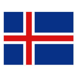 Cartão da bandeira de Islândia