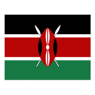 Cartão da bandeira de Kenya