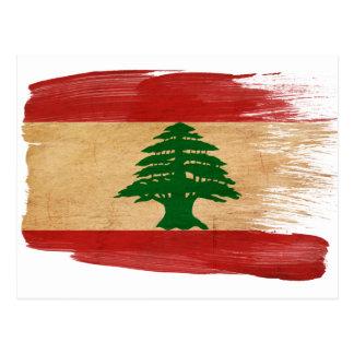 Cartão da bandeira de Líbano