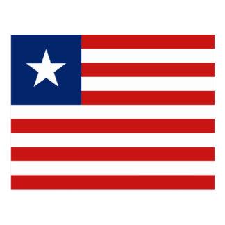 Cartão da bandeira de Liberia