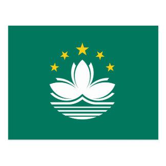 Cartão da bandeira de Macau