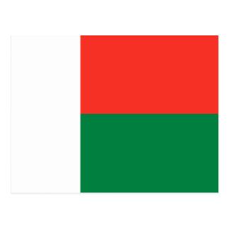 Cartão da bandeira de Madagascar