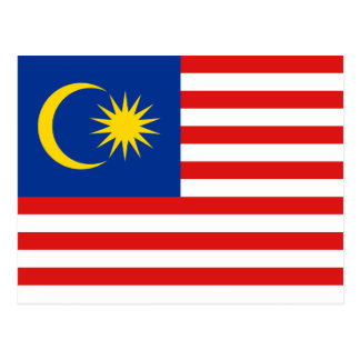 Cartão da bandeira de Malaysia