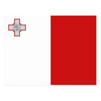 Cartão da bandeira de Malta