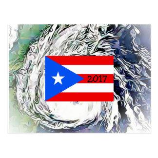 Cartão da bandeira de Maria Puerto Rico do furacão