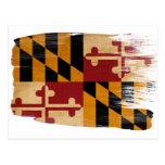 Cartão da bandeira de Maryland Cartão Postal