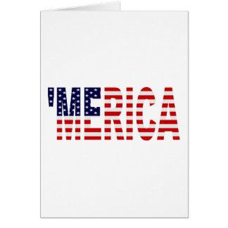 'Cartão da bandeira de MERICA E.U. Cartão