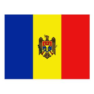 Cartão da bandeira de Moldova