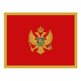 Cartão da bandeira de Montenegro