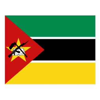 Cartão da bandeira de Mozambique