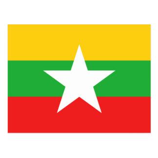 Cartão da bandeira de Myanmar
