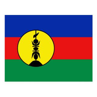Cartão da bandeira de Nova Caledônia