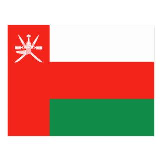 Cartão da bandeira de Oman