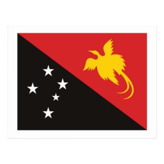 Cartão da bandeira de Papuá-Nova Guiné