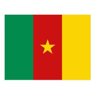 Cartão da bandeira de República dos Camarões