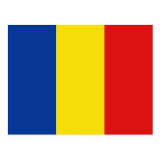 Cartão da bandeira de Romania