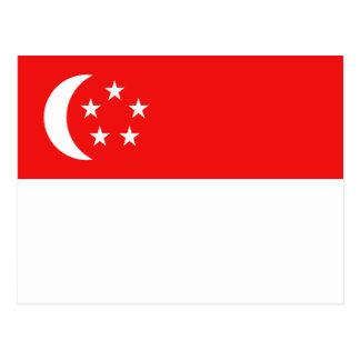 Cartão da bandeira de Singapore Cartão Postal