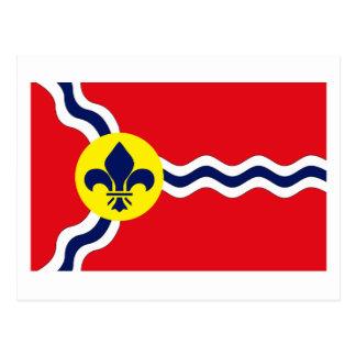 Cartão da bandeira de St Louis