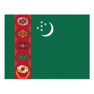 Cartão da bandeira de Turkmenistan