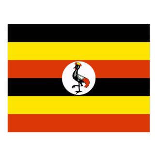 Cartão da bandeira de Uganda
