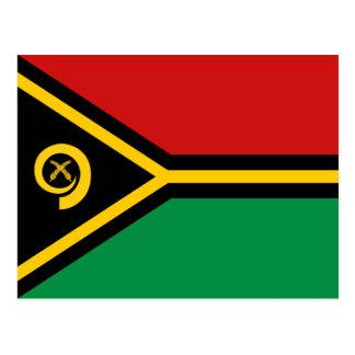 Cartão da bandeira de Vanuatu