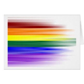 Cartão da bandeira do arco-íris