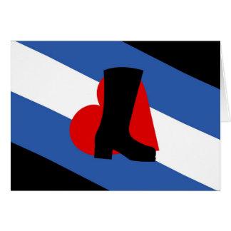 Cartão da bandeira do Bootblack