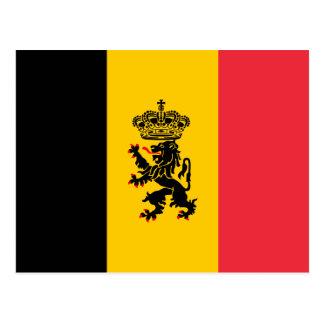 Cartão da bandeira do estado de Bélgica