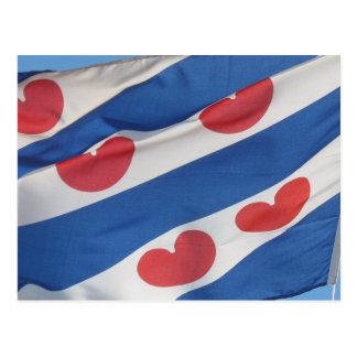Cartão da bandeira do Frisian (Fryslan)