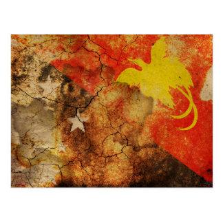 Cartão da bandeira do Grunge de Papuá-Nova Guiné