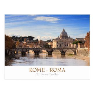 Cartão da basílica de Roma - de St Peter com texto