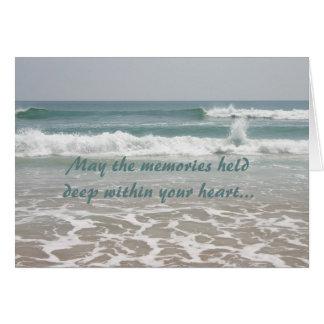 Cartão da beleza do oceano da simpatia