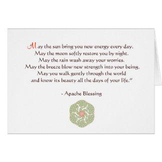 Cartão da bênção de Apache