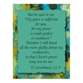 Cartão da benevolência do deus cristão inspirado