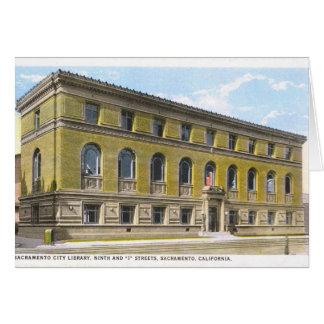 Cartão da biblioteca de Sacramento (vazio)