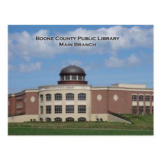 Cartão da biblioteca do Condado de Boone
