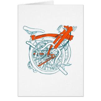 Cartão da bicicleta de Brompton