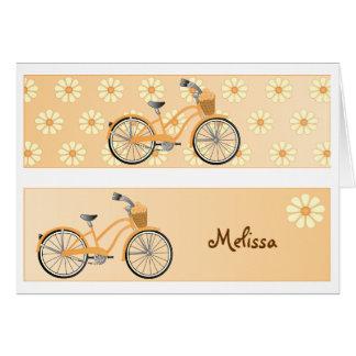 Cartão da bicicleta do marcador