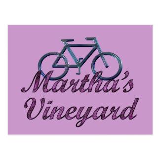 Cartão da bicicleta do vinhedo