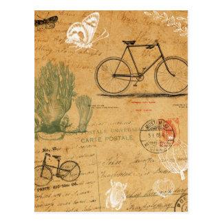 Cartão da bicicleta do vintage cartões postais