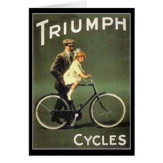Cartão da bicicleta do vintage:  Ciclos de Triumph