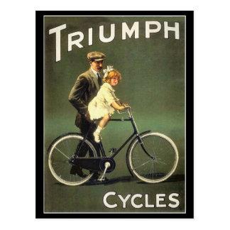 Cartão da bicicleta do vintage:  Ciclos de Triumph Cartão Postal