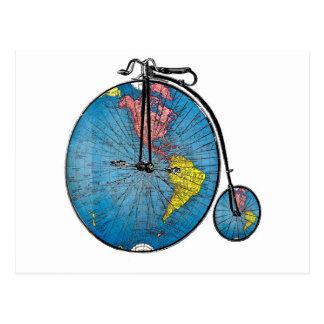 Cartão da bicicleta do vintage do Wanderlust