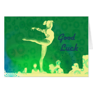 Cartão da boa sorte da ginástica
