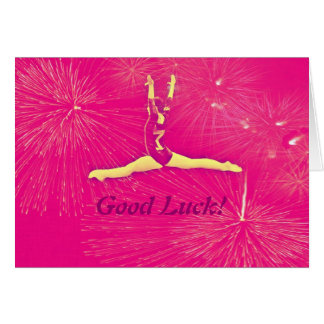 Cartão da boa sorte do Gymnast